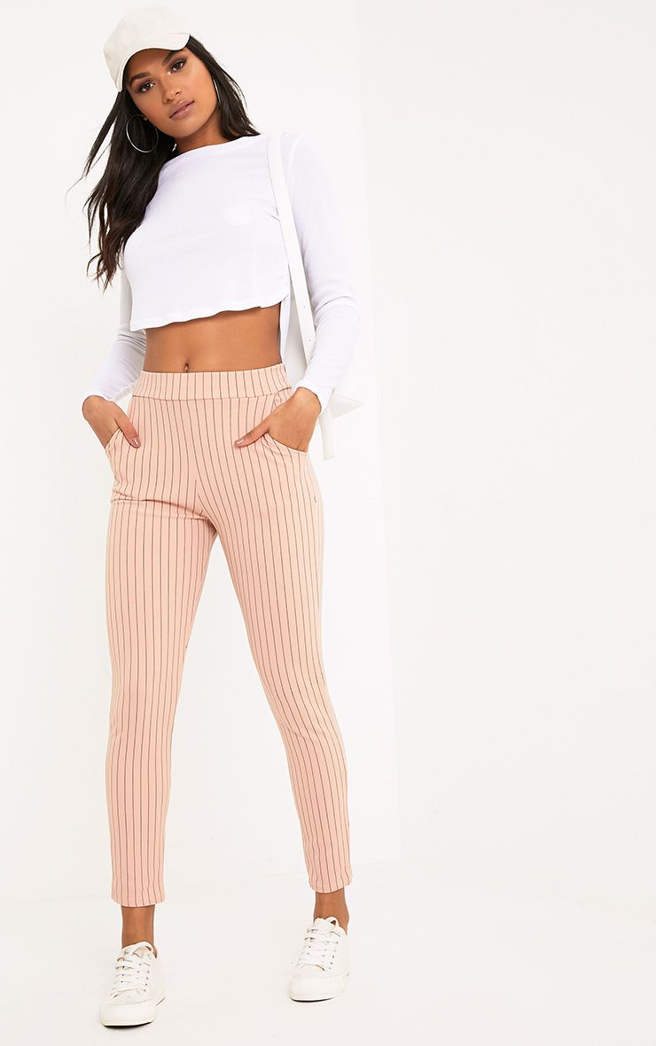 Sage Blush Stripe Trousers