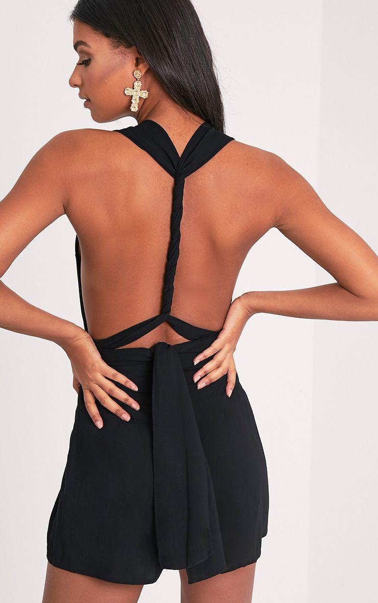 Ailee Black Tie Back Playsuit 5