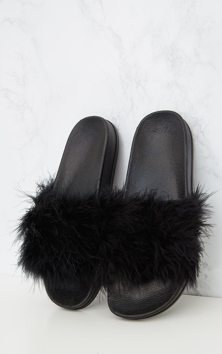 Black Feather Sliders