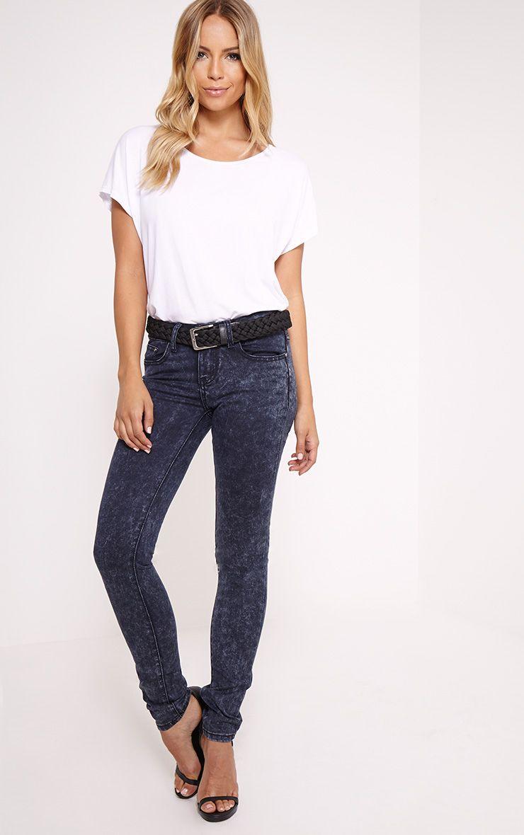 Alisa Blue Acid Wash Skinny Jean 1