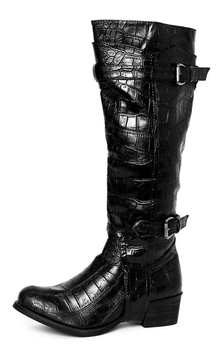 Product photo of Sheri black snake boot black