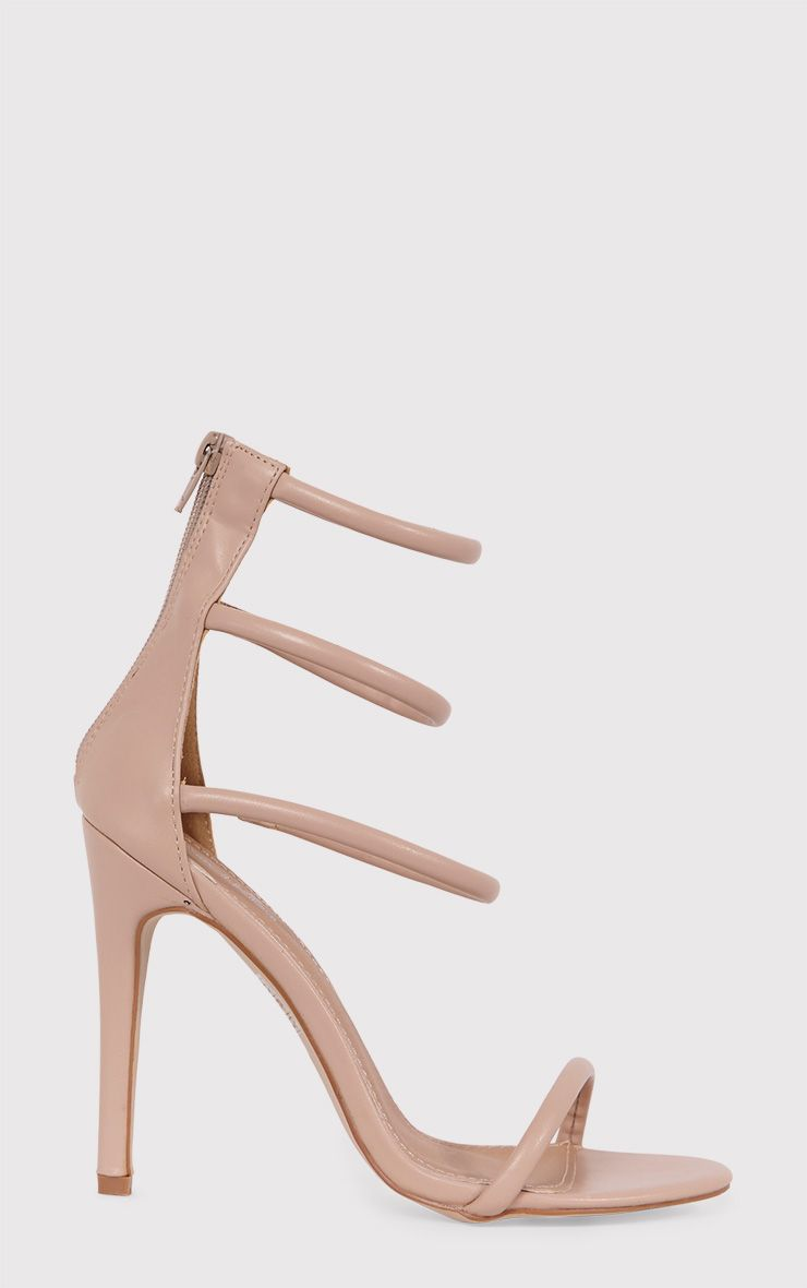 Nadine Nude Strappy Heeled Sandals