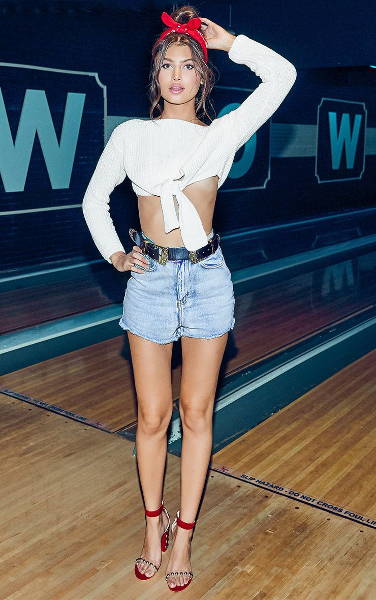 Shelby Blue High Waisted Denim Shorts