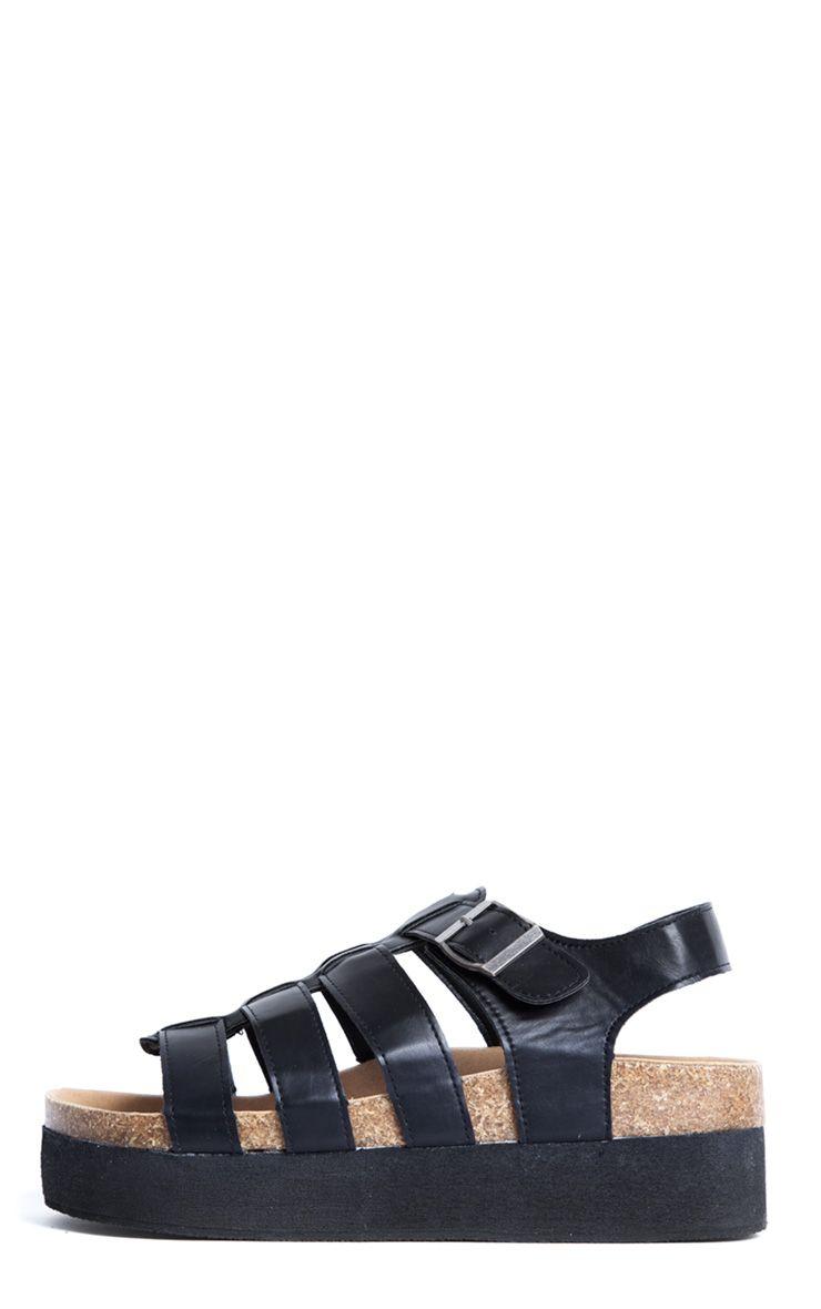 Haven Black Gladiator Sandals 1
