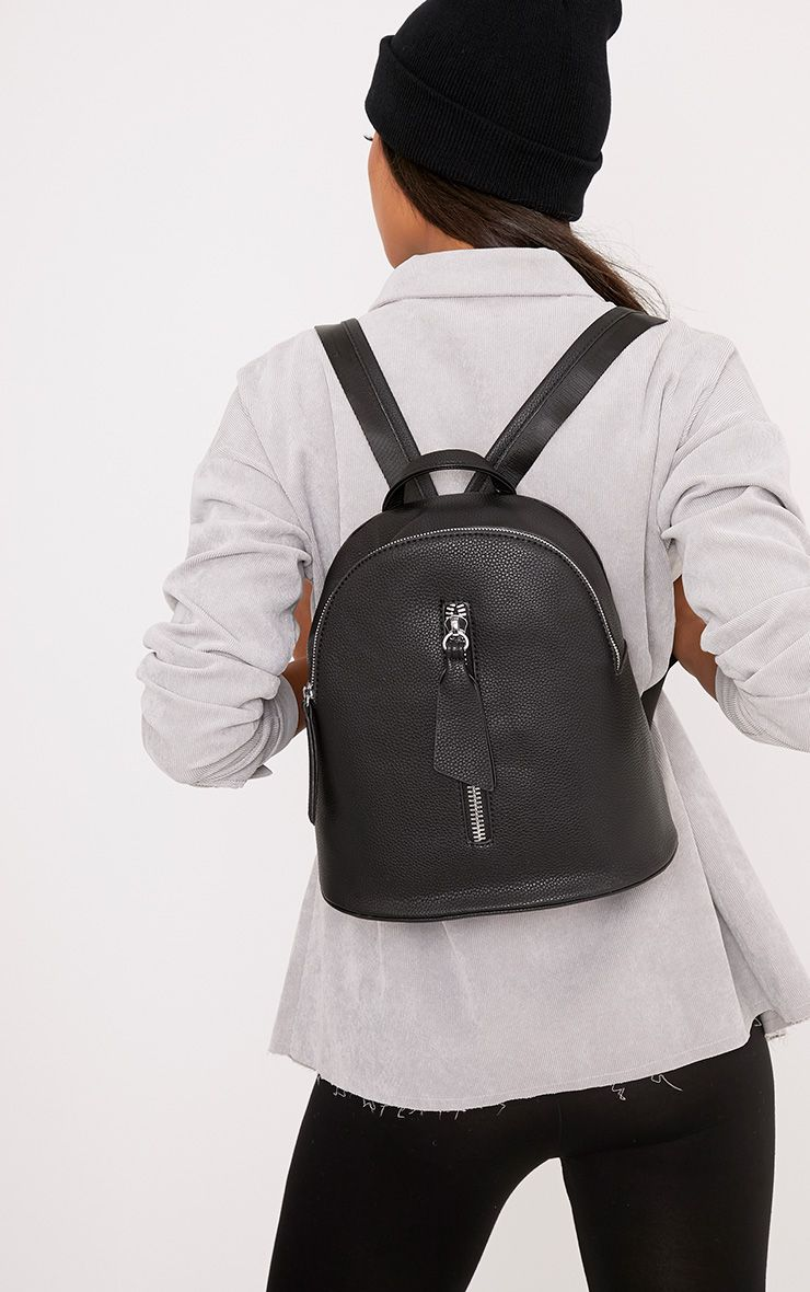 Becca Black Zip Front Backpack