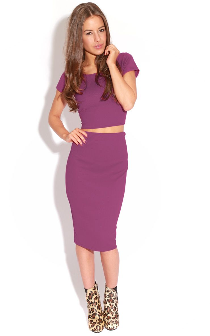 Fallon Purple MIdi Skirt 1