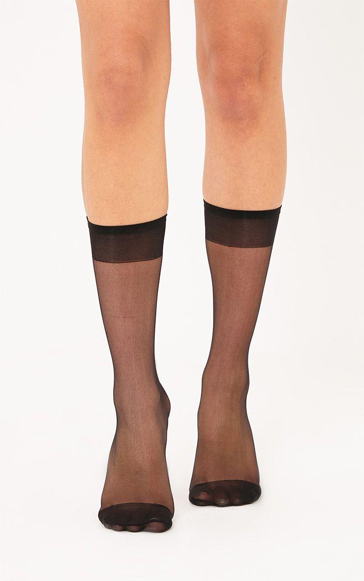 3 Pack Of Sheer Black Ankle Socks