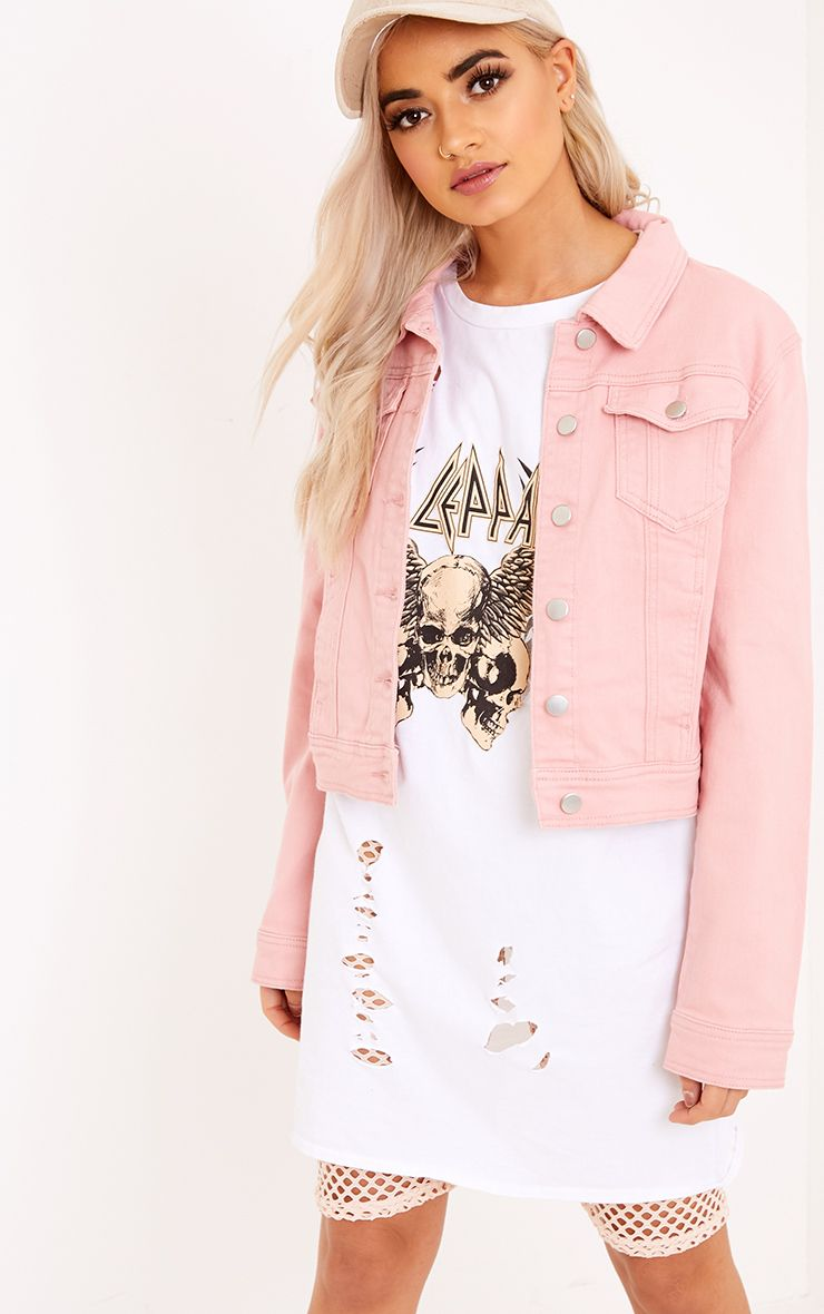 Adreanna Cropped Denim Jacket