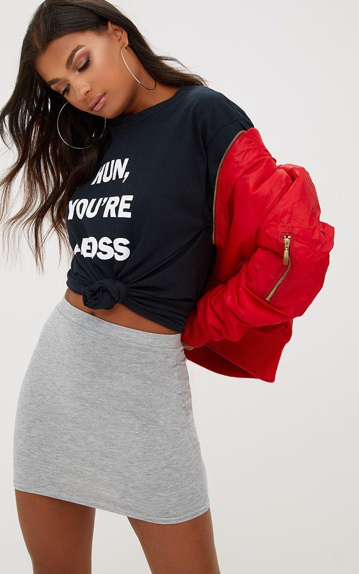 Grey Marl Ultimate Jersey Mini Skirt