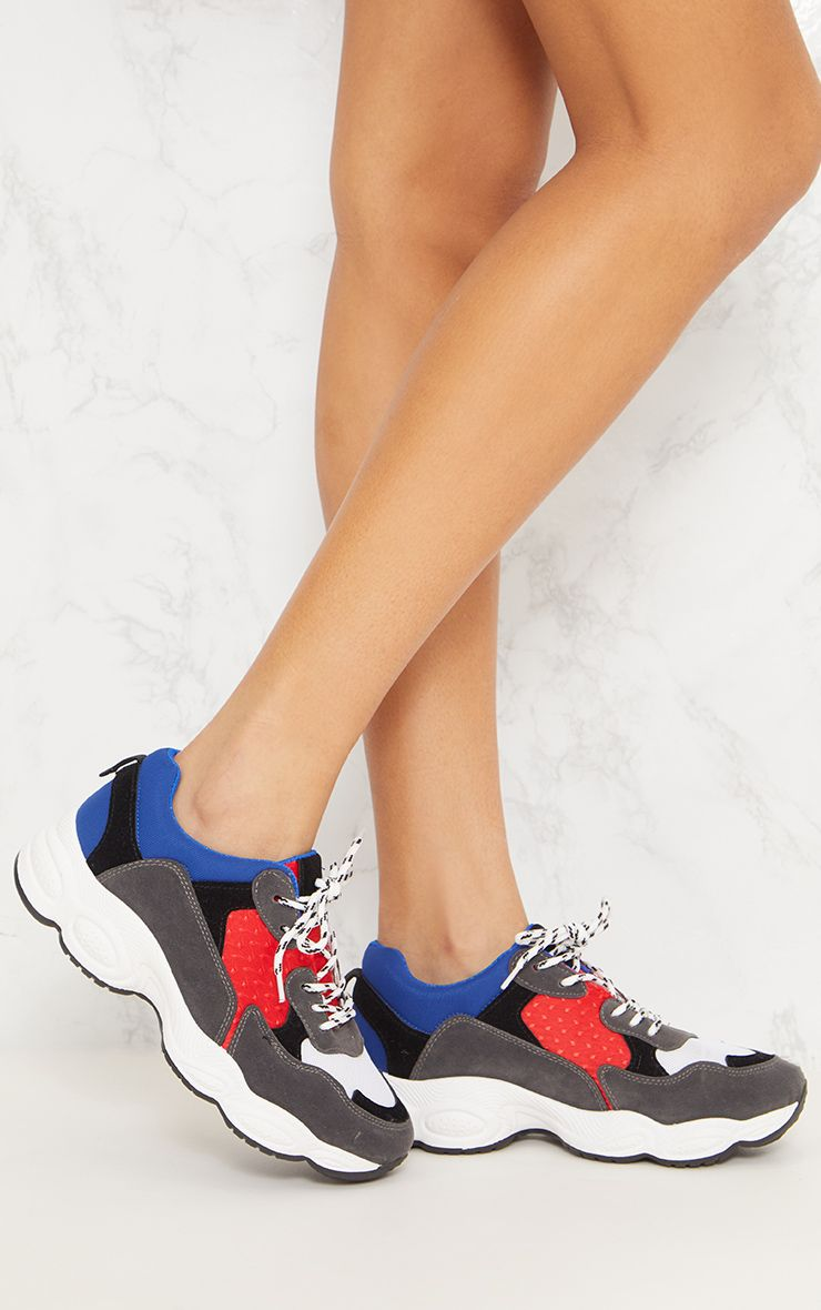 Blue Chunky Trainers