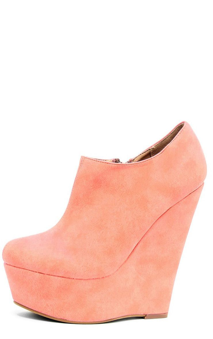 Mae Coral Suedette Wedges 1
