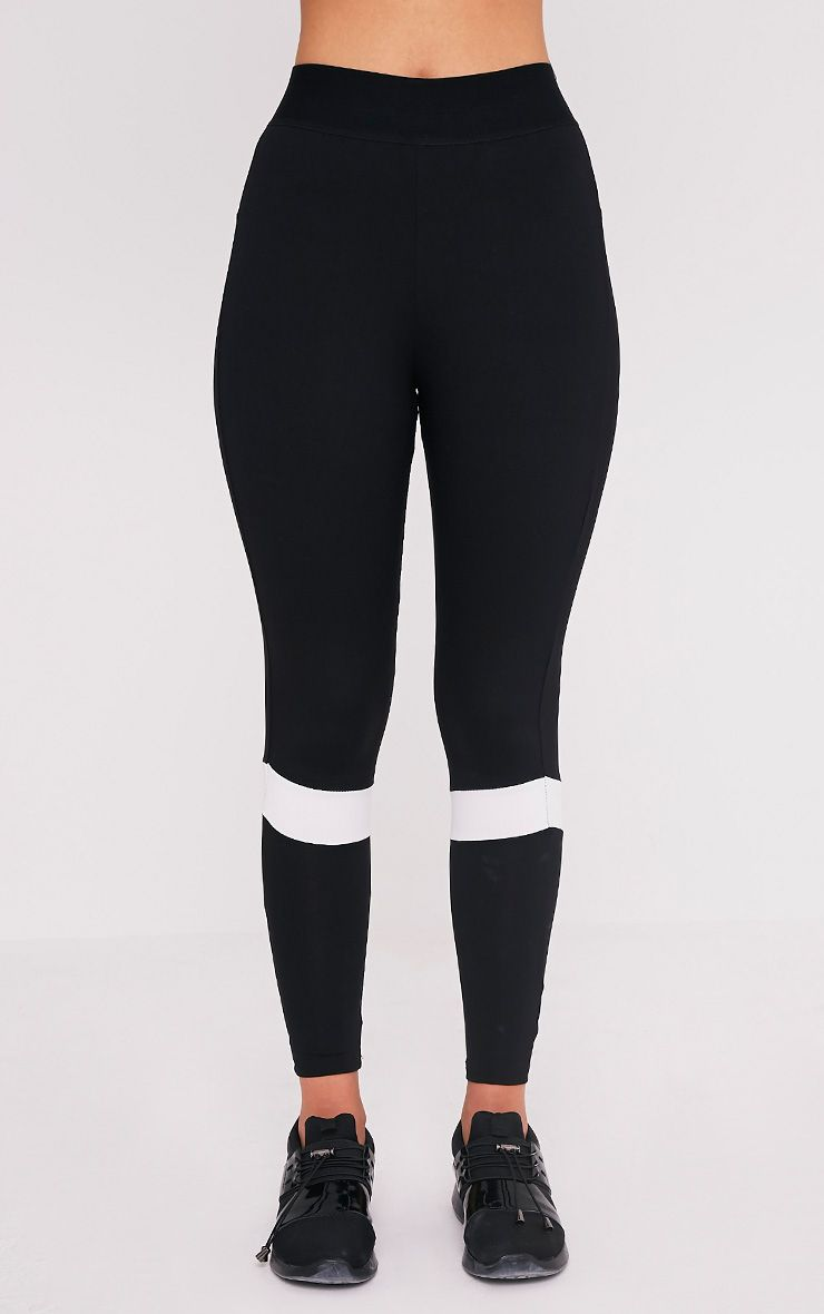 Grace legging de sport à empiècements noir 2