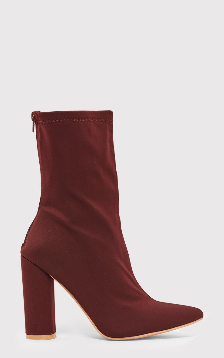 Addie Plum Neoprene Pointed Sock Boots