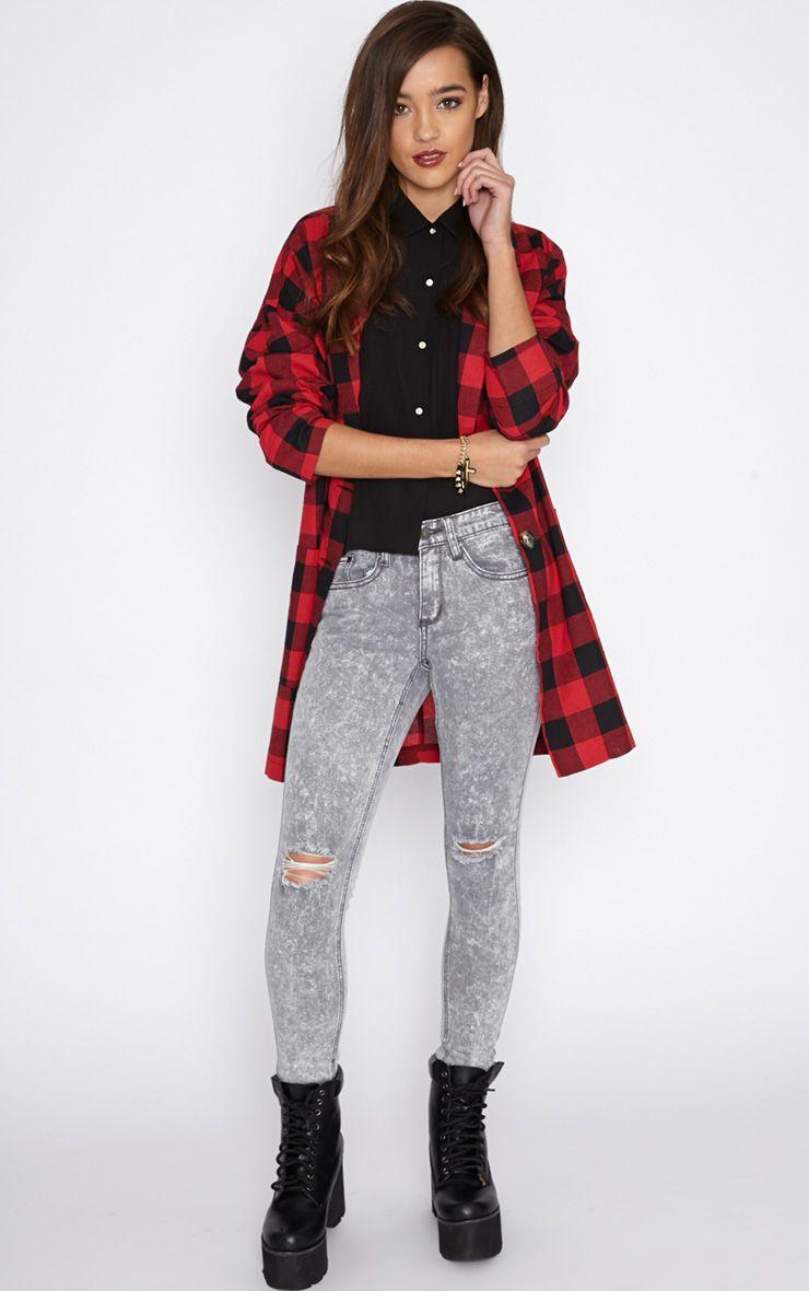 Ivy Light Grey Skinny Jean  1