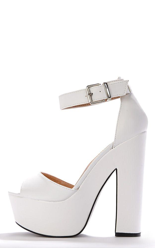 Product photo of Madison white platform sandal white