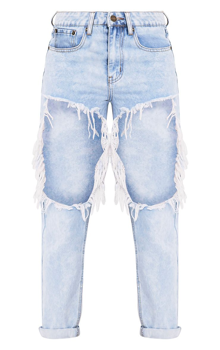 Madisson Light Wash Extreme Open Thigh Mom Jean 3