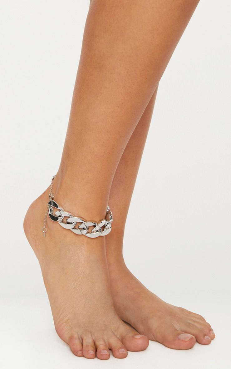 Silver Chunky Chain Anklet