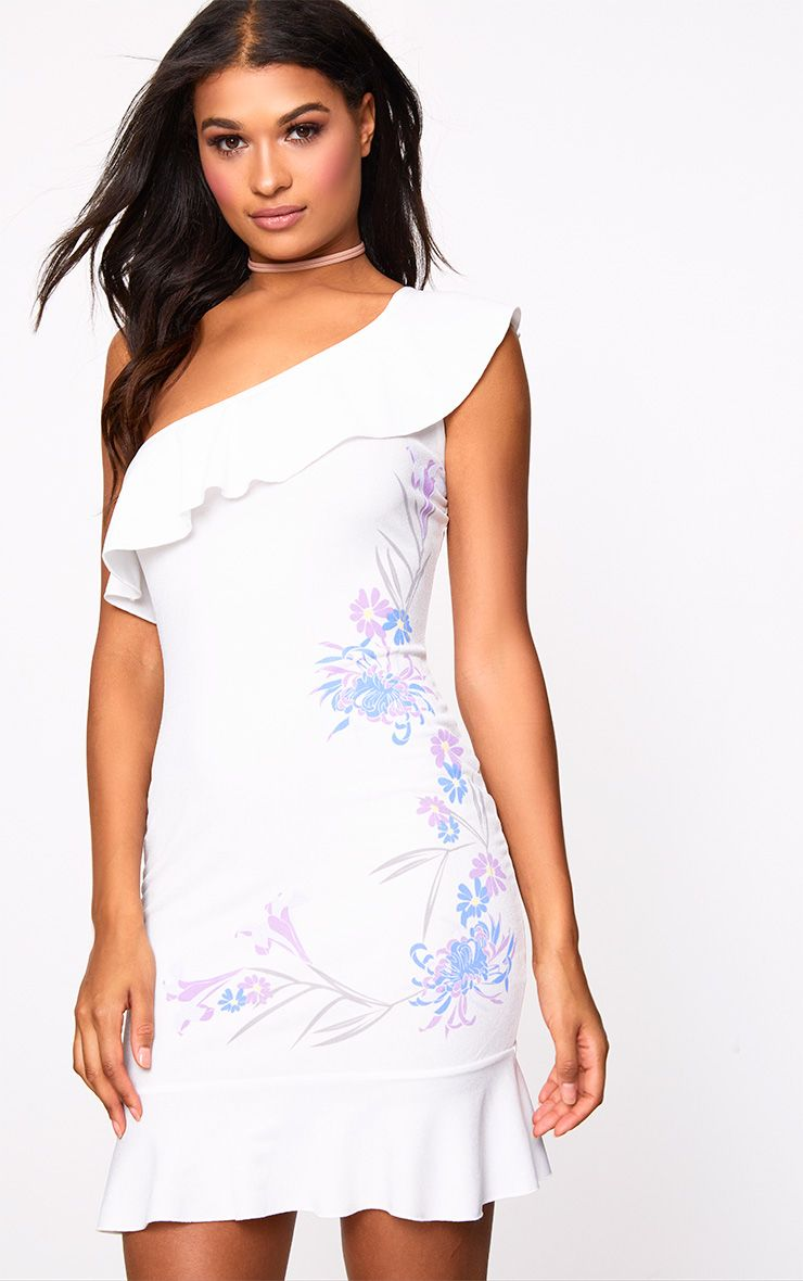 White One Shoulder Bodycon Dress