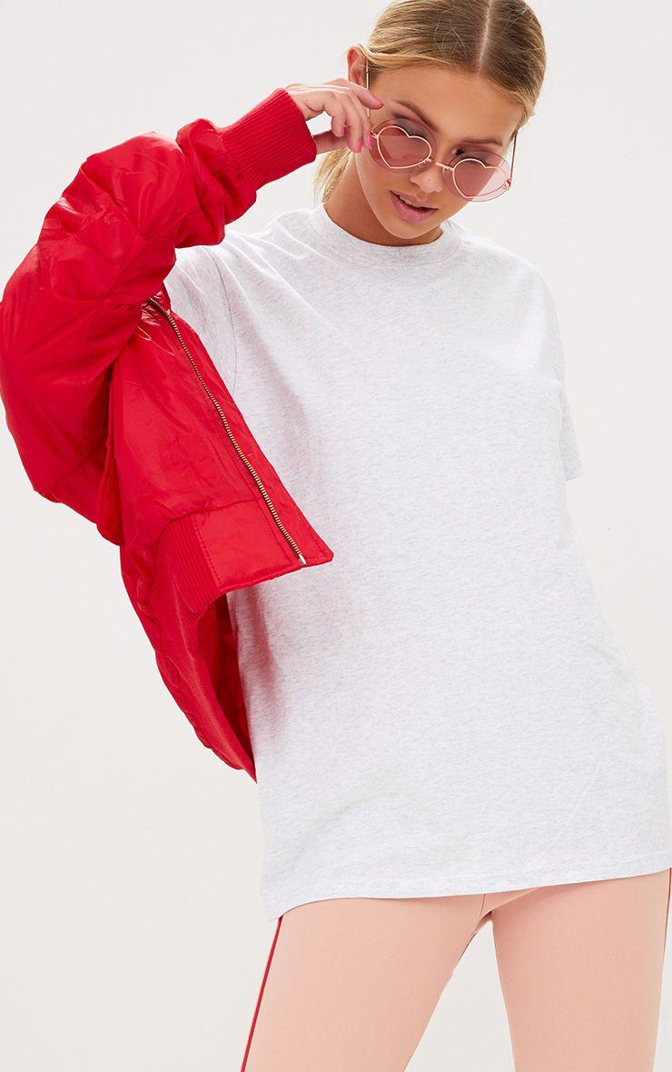 Ultimate Grey Marl Oversized T Shirt 1