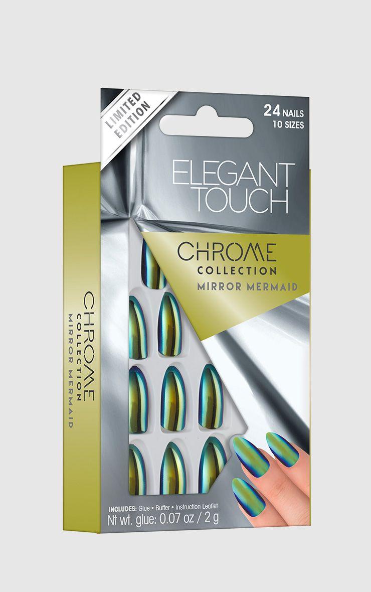Elegant Touch Mirror Mermaid Chrome Nails