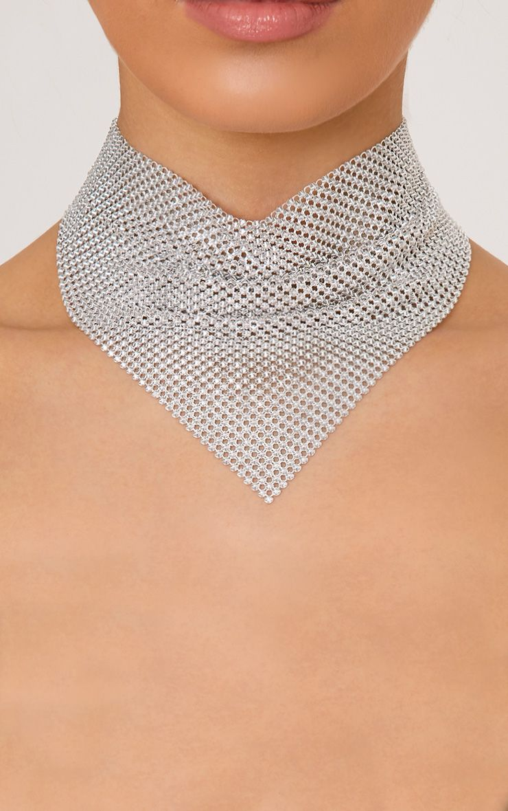 Spring Silver Chainmail Choker