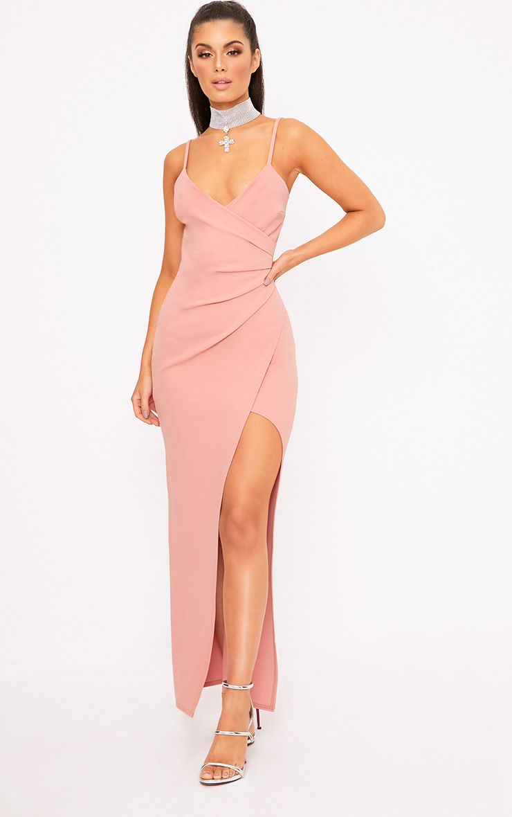 Rose Wrap Front Maxi Dress