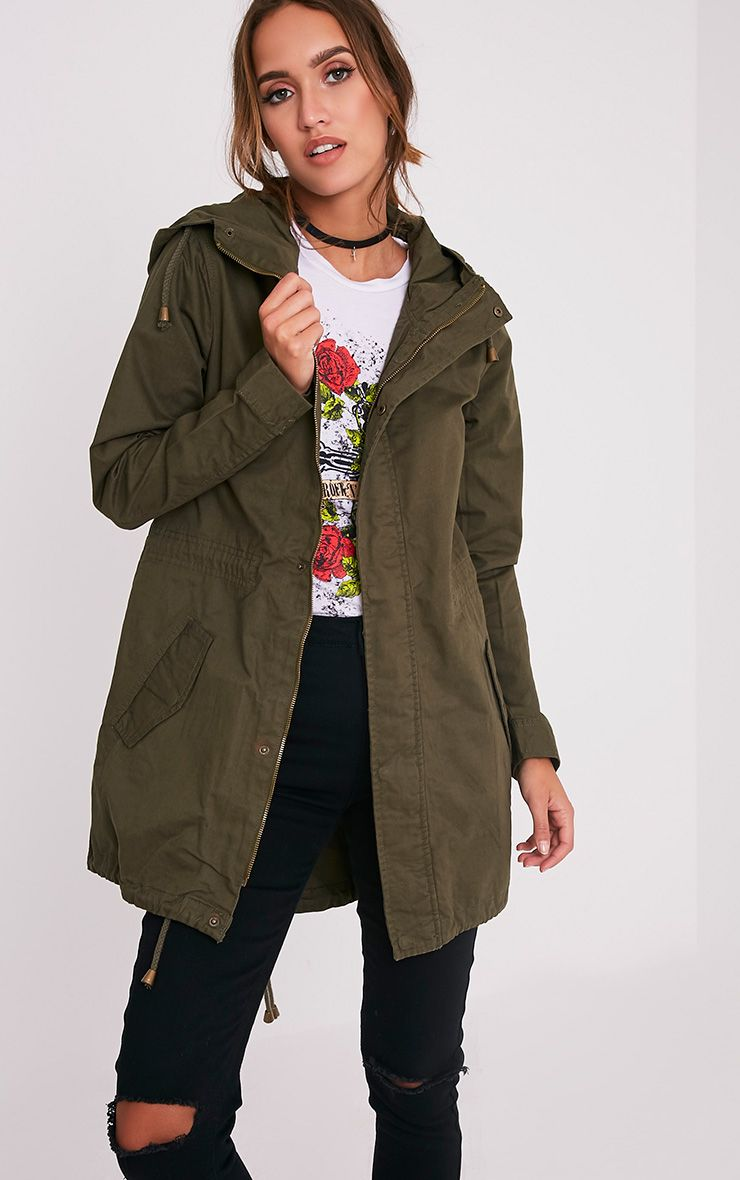 Sela Khaki Hooded Parka