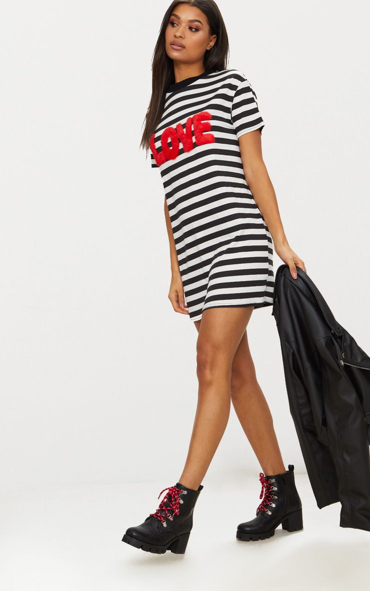 1232af535d02 love-monochrome-stripe-t-shirt-dress- by prettylittlething