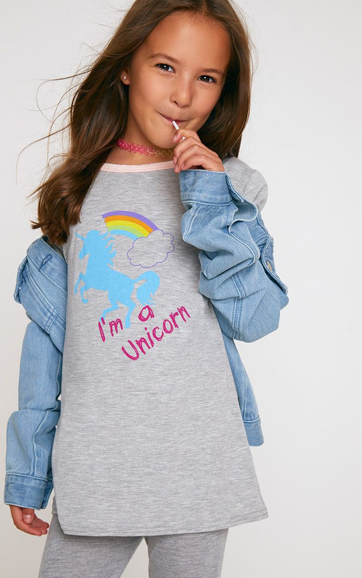 I'm A Unicorn Grey T Shirt