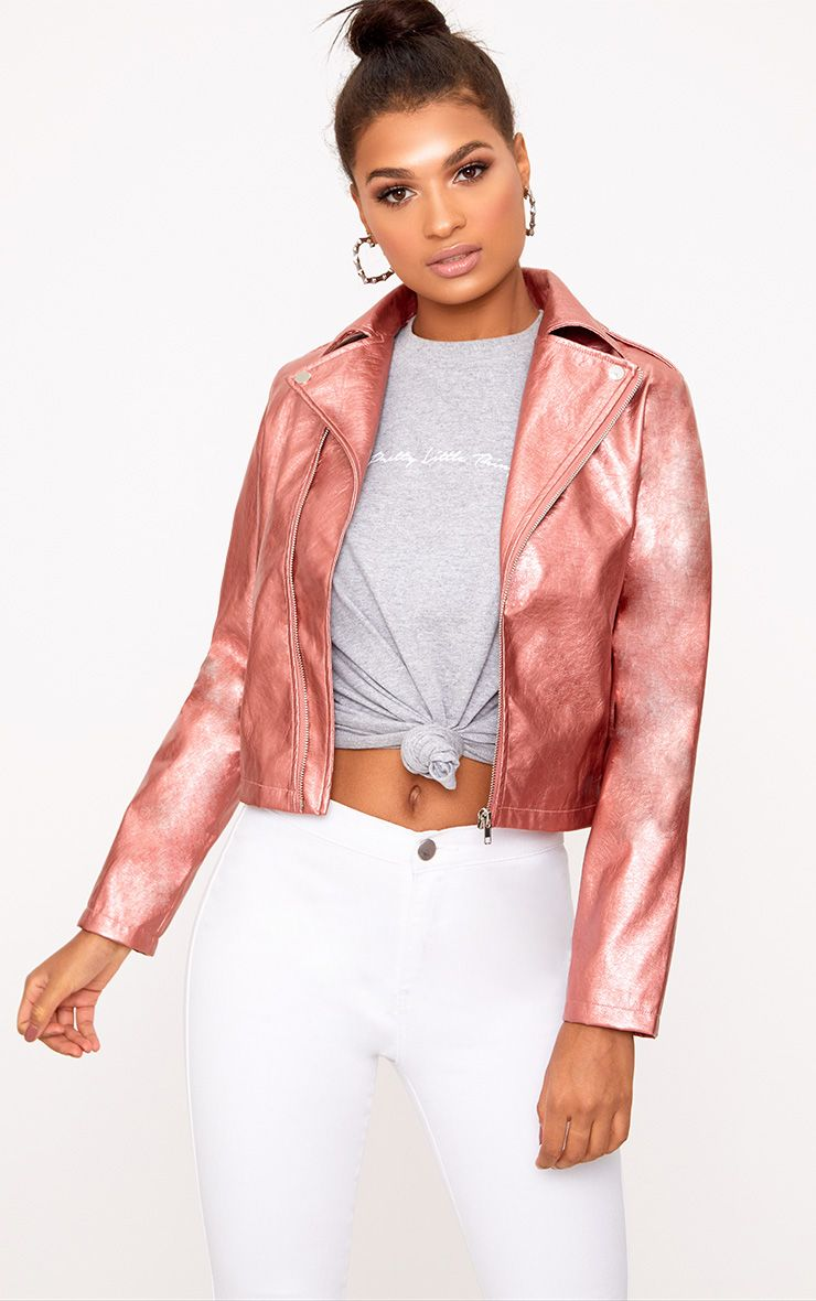 Hollie Rose Metallic PU Biker