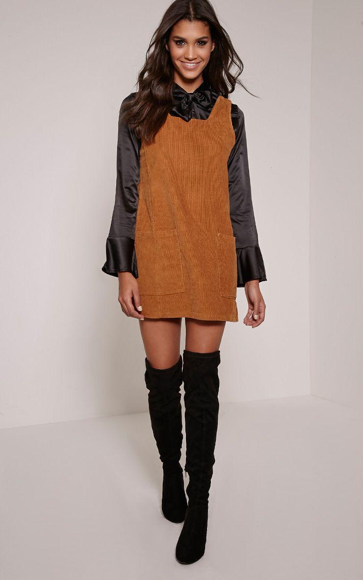 Staci Tan Cord Pinafore Dress 1