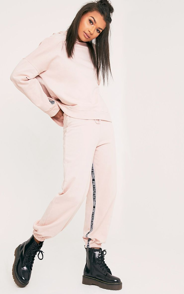 PrettyLittleThing Branded Pink Joggers