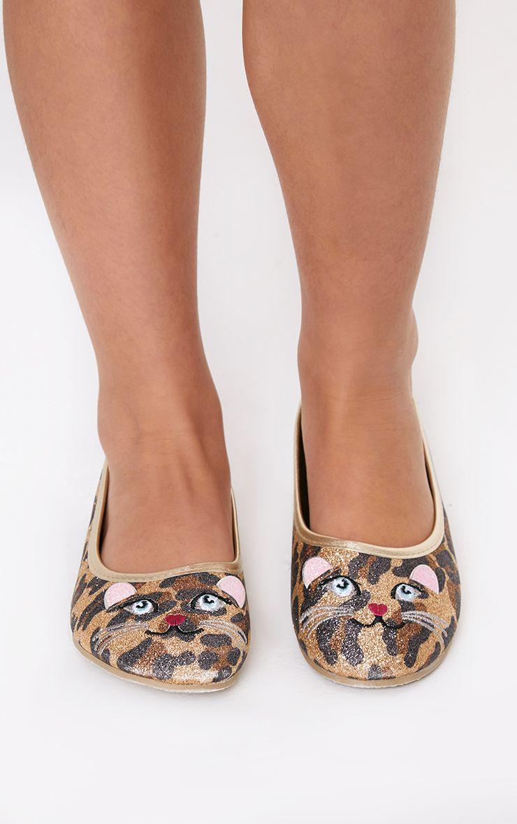 Brown Cat Ballet Flats