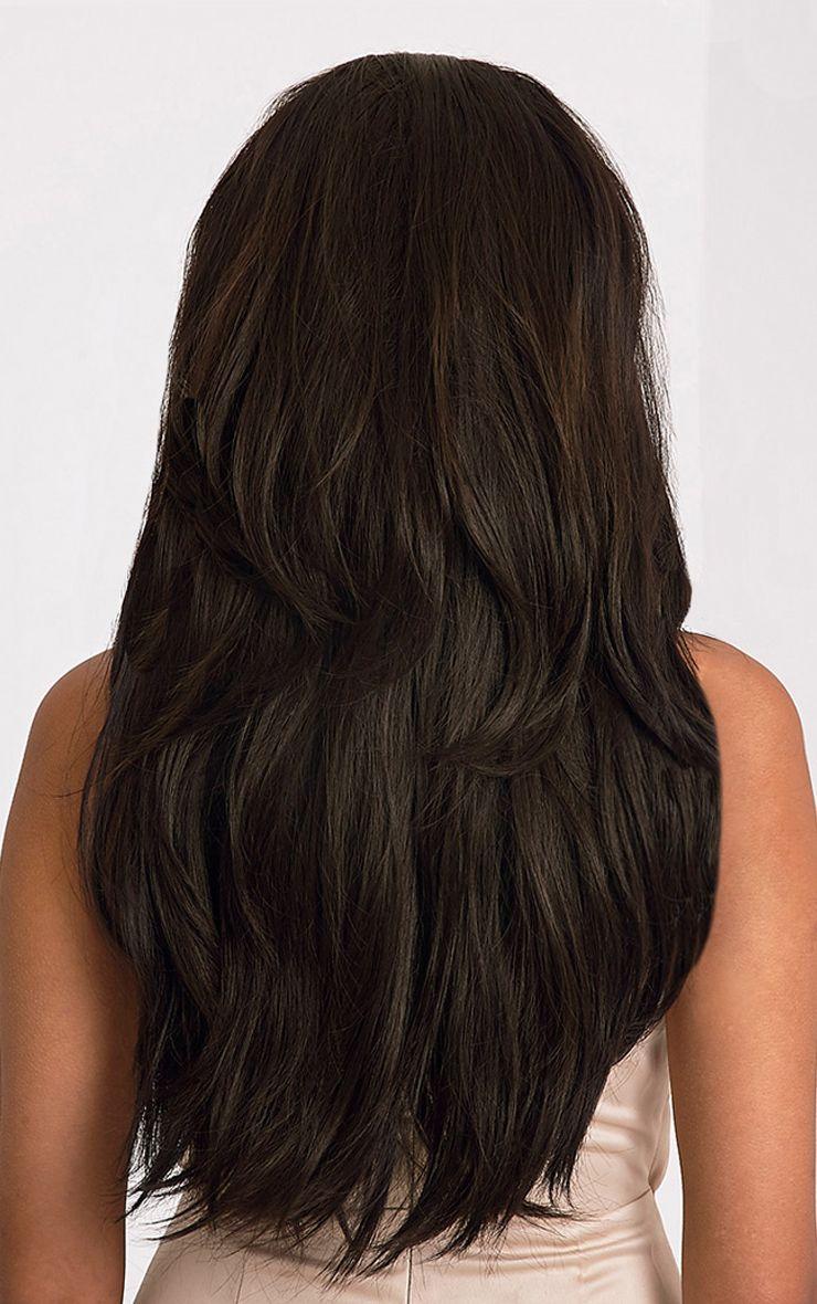 Dark Brown Reversible Half Head Wig 1