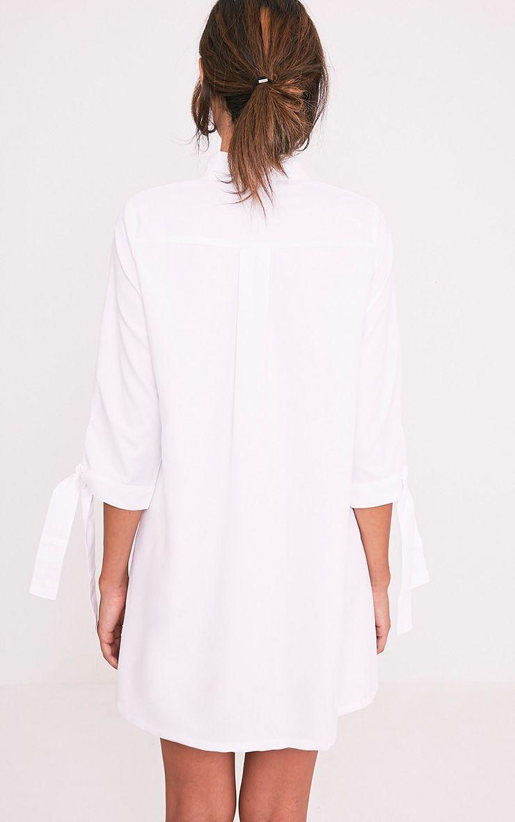 Maysia White  Cuff Detail Shirt Dress 2