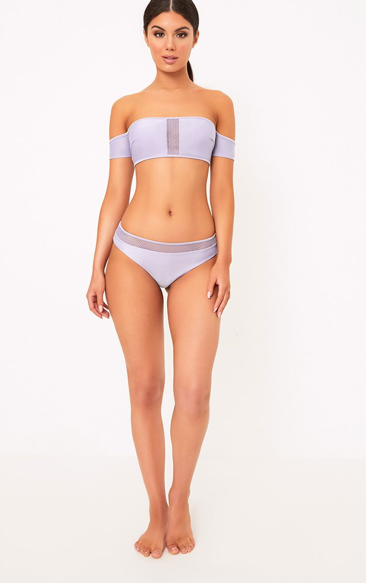 Fia Lilac Fishnet Bikini Bottoms