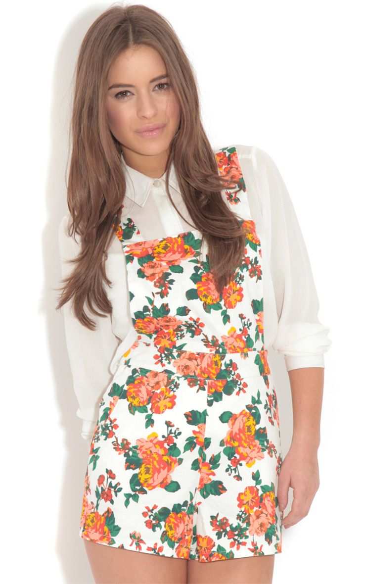 Susie White Floral Playsuit 1