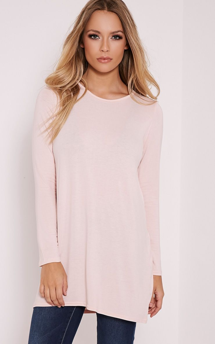 Basic Blush Raglan Sleeve Jersey Top 1
