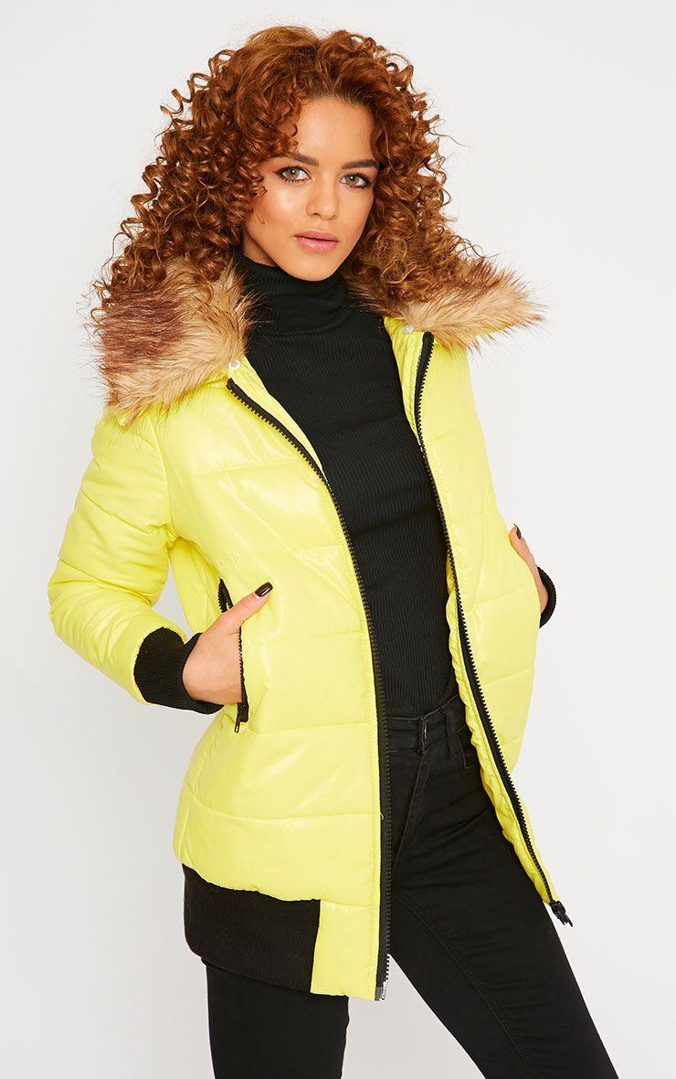 Selma Yellow Puffa Jacket  1