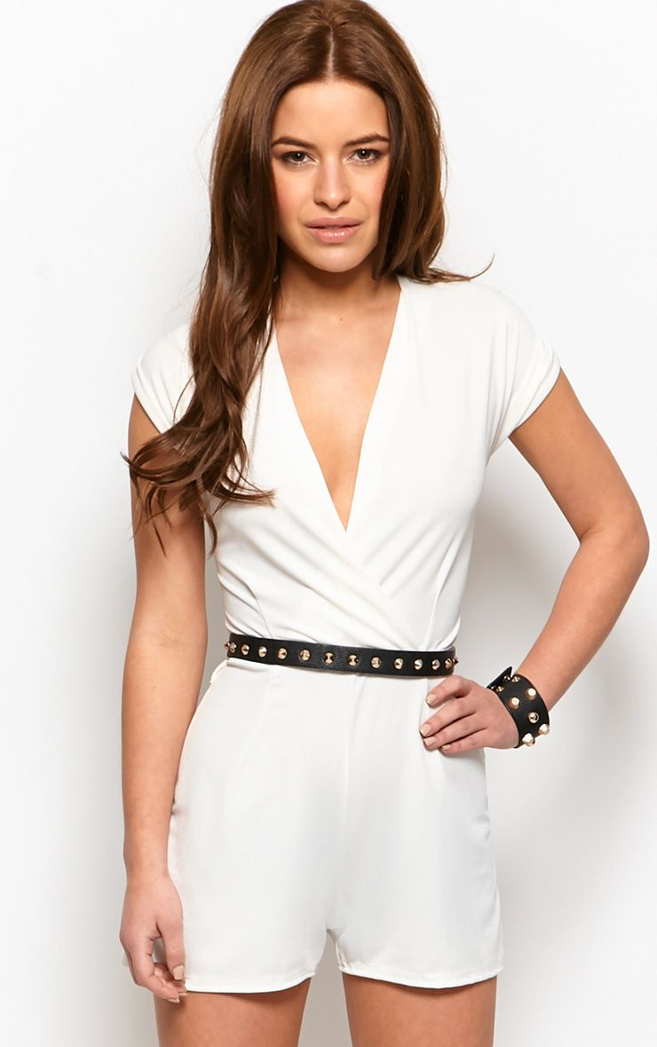 Kacey Cream Crossover Playsuit  1