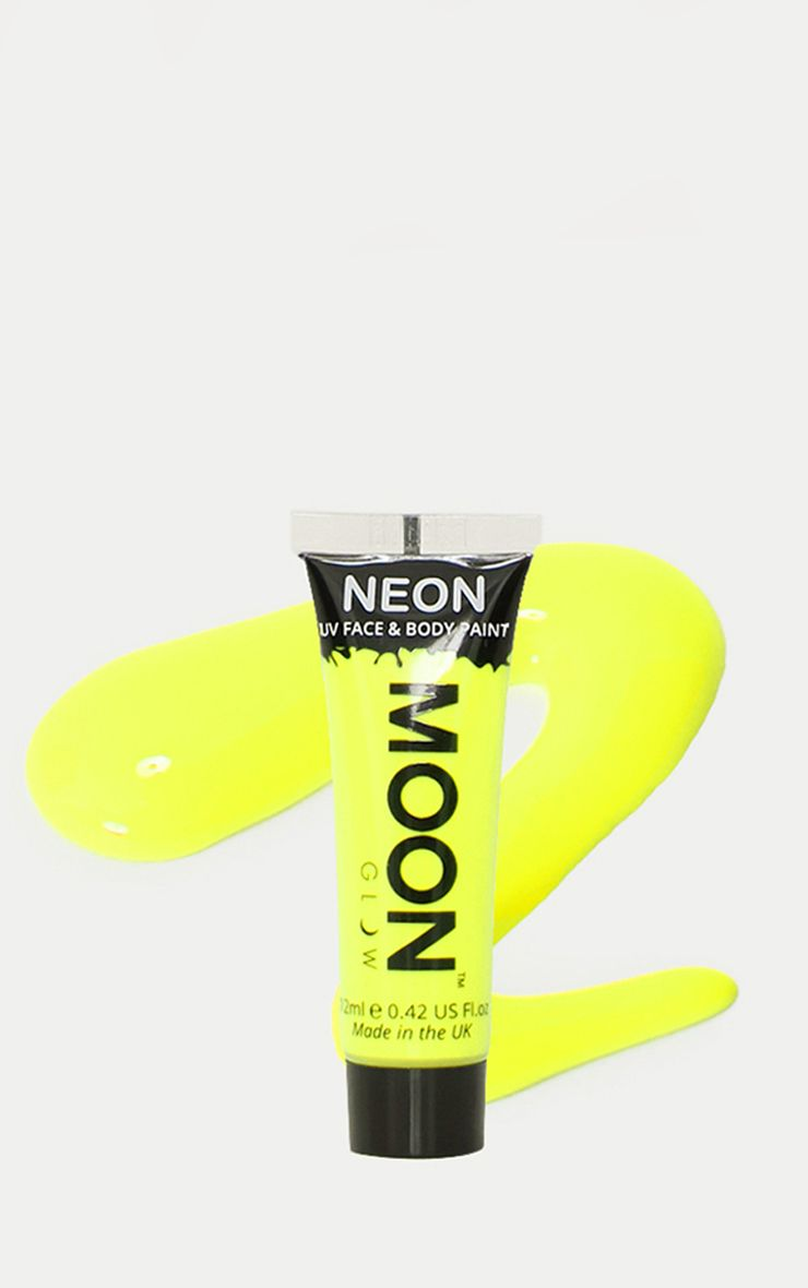 Neon UV Face & Body Paint Yellow 1