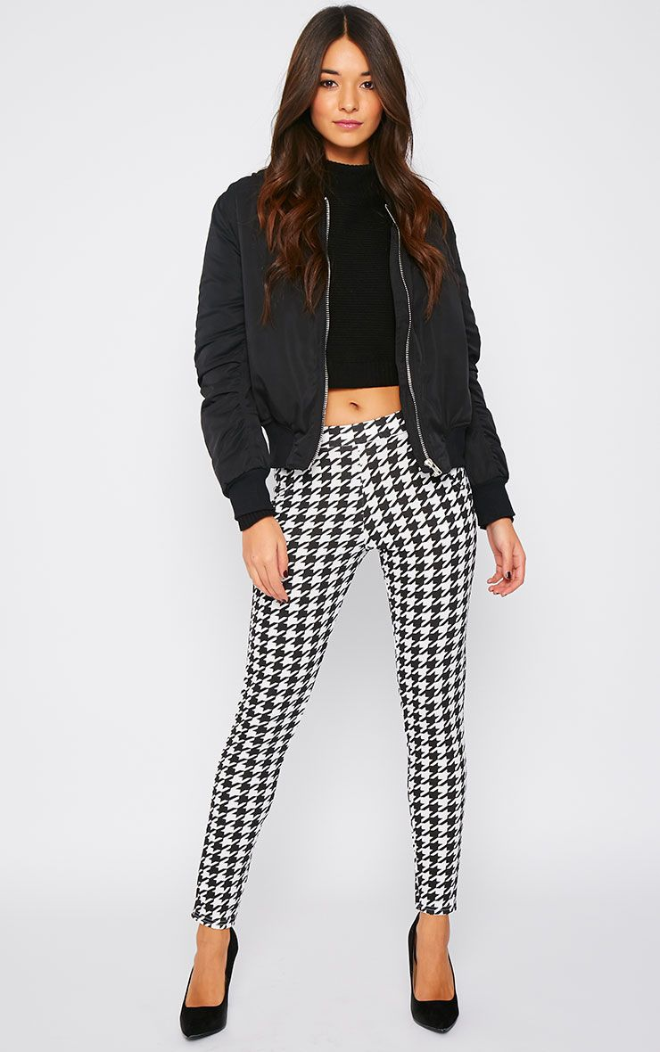 Kavita Monochrome Dogtooth Cigarette Trousers 1