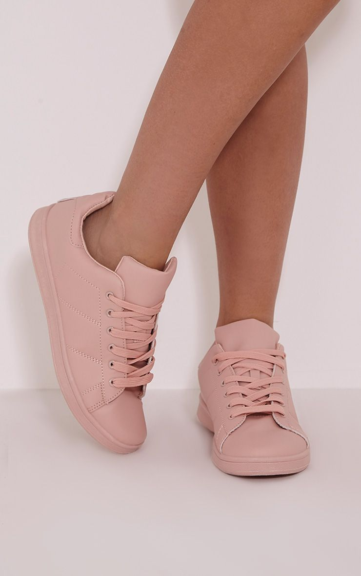 Outlet Locations Cheap Price Nude Lace Up Trainer Pretty Little Thing Pre Order Sale Online Best Place For Sale Amazon Cheap Price Discount Amazing Price AScgI5Pxmm