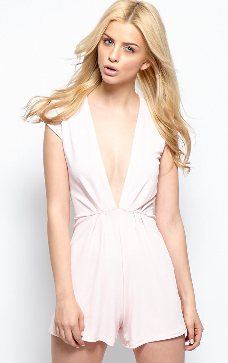 Allie Pink Low Cut Playsuit 1