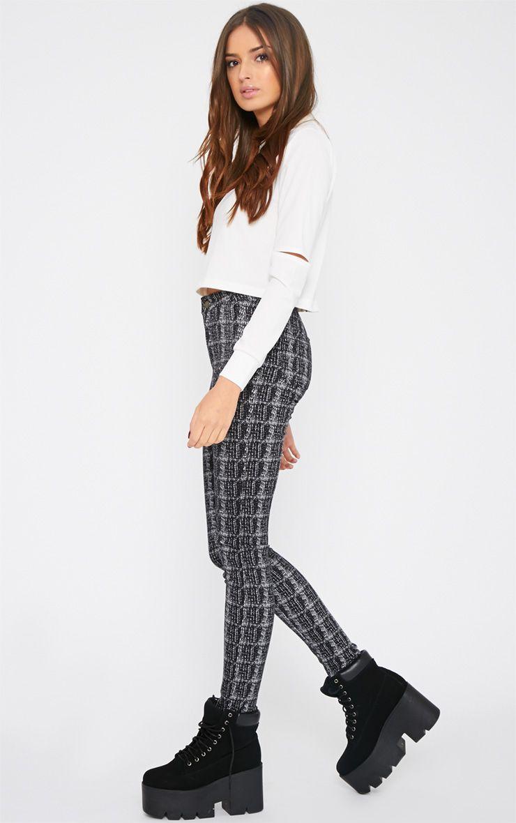 Francesca Monochrome High Waist Skinny Jean  1
