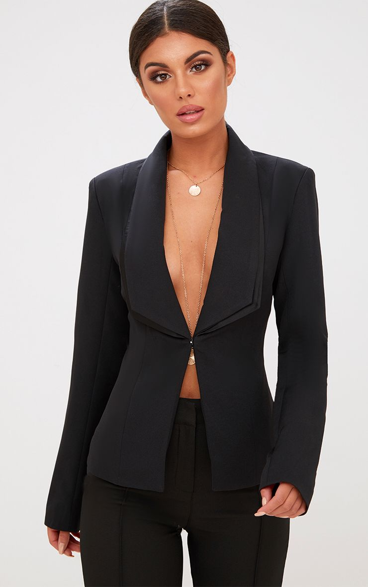Blazer noir double revers