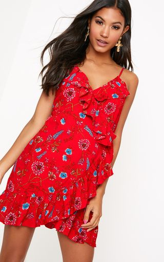 Floral Dresses Flowery Print Dress Prettylittlething