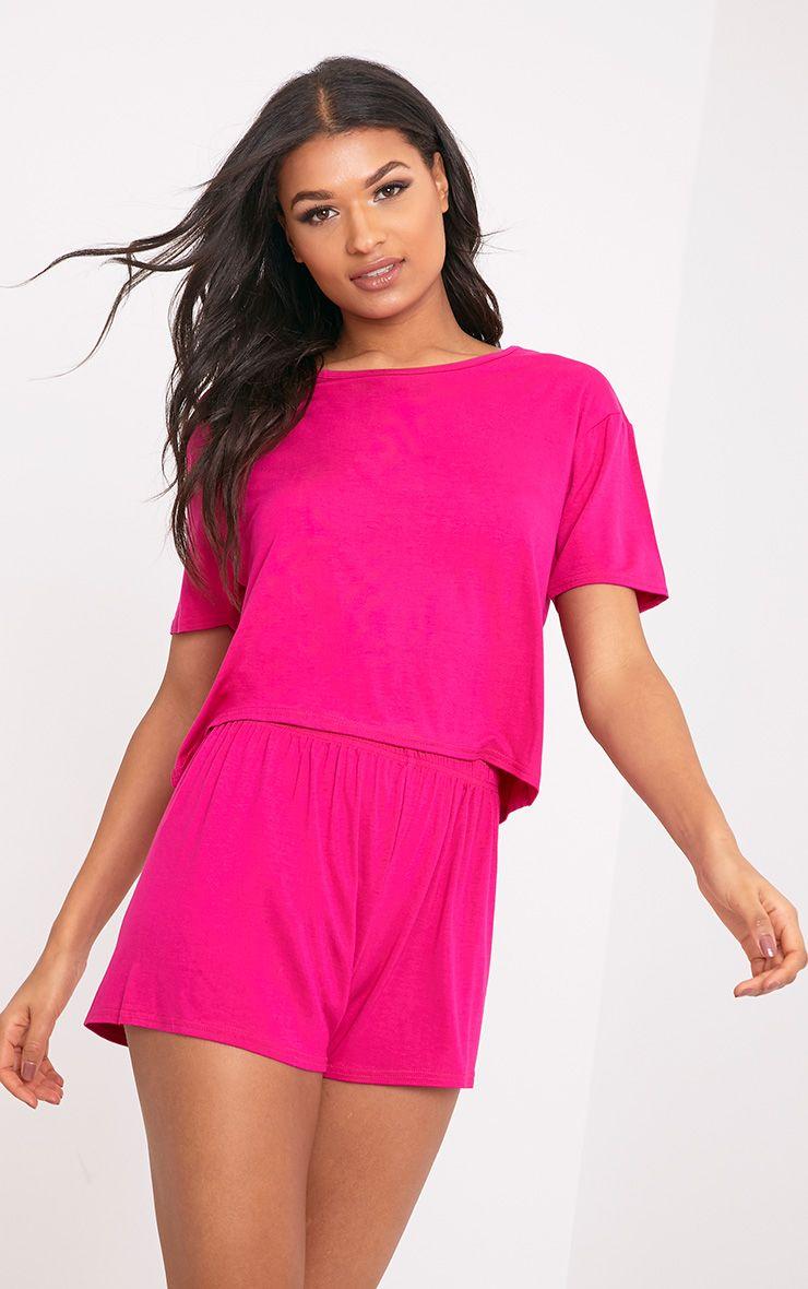Basic Hot Pink Short Pj Set