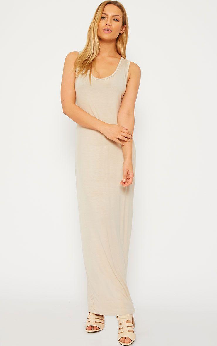 Basic Stone Jersey Maxi Dress 1