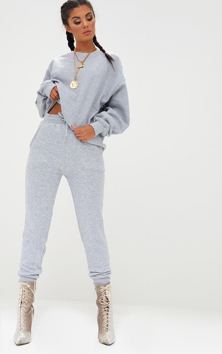 Bruna Grey Marl Sweat Joggers